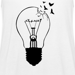Outlaw, breaking out of the old light bulb Tanks - Women's Flowy Tank Top by Bella