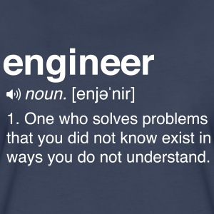 Funny Engineer Definition T-Shirts - Women's Premium T-Shirt