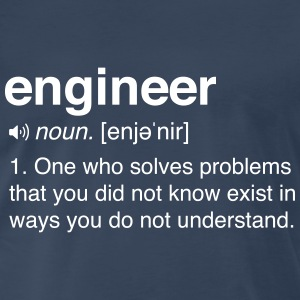 Funny Engineer Definition T-Shirts - Men's Premium T-Shirt