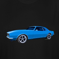 Design ~ Blue Camaro SS Mens Tall Sizes