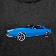 Design ~ Blue Camaro SS Women Rolled Boxy T
