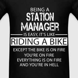 Station Manager T-Shirts - Men's T-Shirt