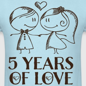 5th anniversary 5 years t shirts men s t shirt