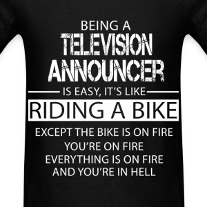 Television Announcer T-Shirts - Men's T-Shirt