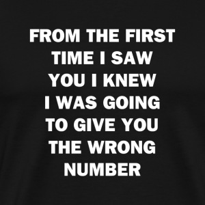 From The First Time I Saw You - Men's Premium T-Shirt