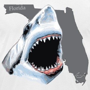 Florida Shark Hookat T-Shirts - Men's T-Shirt by American Apparel