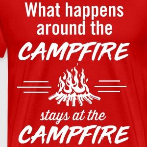 What happens around the campfire stays at the camp T-Shirts - Men's Premium T-Shirt