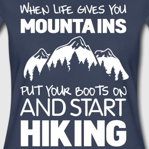 When life gives you mountains put your books on T-Shirts - Women's Premium T-Shirt