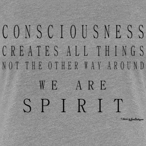 Consciousness Creates All Things - Black T-Shirts - Women's Premium T-Shirt