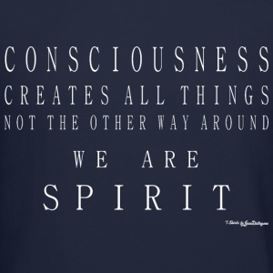 Consciousness Creates All Things - White Long Sleeve Shirts - Crewneck Sweatshirt