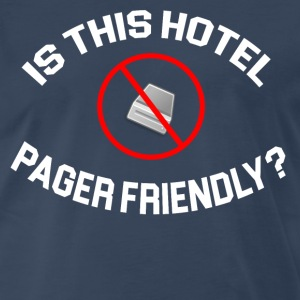 The Hangover - Is This Hotel Pager Friendly T-Shirts - Men's Premium T-Shirt