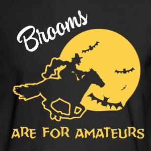 Brooms Halloween Shirt - Men's Long Sleeve T-Shirt
