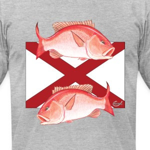 Alabama State Flag Snapper T-Shirts - Men's T-Shirt by American Apparel