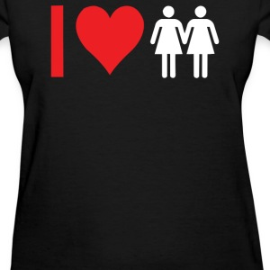 I Love Heart Women Girls - Women's T-Shirt