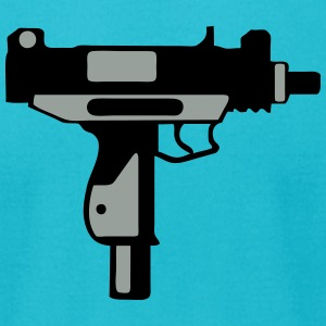 uzi submachine gun 212 T-Shirts - Men's T-Shirt by American Apparel