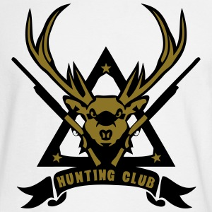 deer hunting hunt logo 7 rifle 8 Long Sleeve Shirts - Men's Long Sleeve T-Shirt