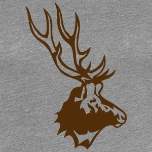 deer wild animal profile 8 T-Shirts - Women's Premium T-Shirt