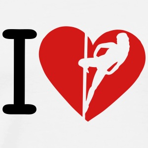 i love pole disco hot dance 8 T-Shirts - Men's Premium T-Shirt
