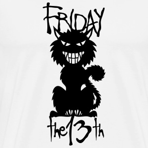 black cat villain friday 13 T-Shirts - Men's Premium T-Shirt