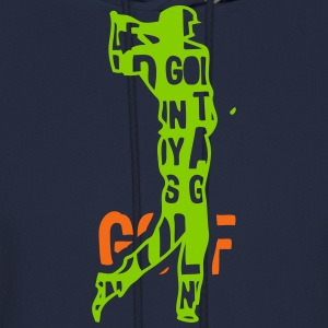 golf text 204 words Hoodies - Men's Hoodie