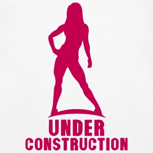 under construction bodybuilding fitness Tanks - Women's Premium Tank Top
