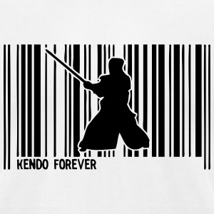 kendo barcode T-Shirts - Men's T-Shirt by American Apparel