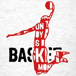 basketball text 204 words T-Shirts - Men's T-Shirt
