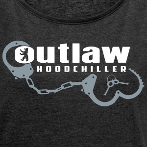 Outlaw Berlin T-Shirts - Women´s Rolled Sleeve Boxy T-Shirt