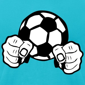 soccer ball fist fighting warrior T-Shirts - Men's T-Shirt by American Apparel