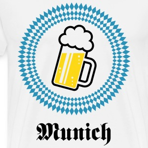 Munich 1 Beer (Bavaria Germany) T-Shirts - Men's Premium T-Shirt