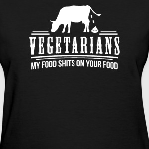 FUNNY VEGETARIAN JOKE PRINTED - Women's T-Shirt