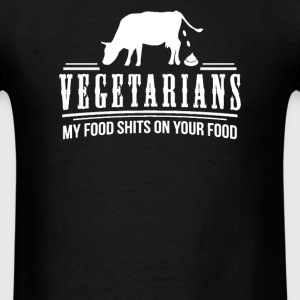 FUNNY VEGETARIAN JOKE PRINTED - Men's T-Shirt