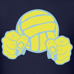 volleyball ball fist fighting warrior T-Shirts - Men's T-Shirt