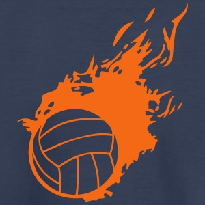 volleyball ball flame fireball 1 Kids' Shirts - Kids' Premium T-Shirt