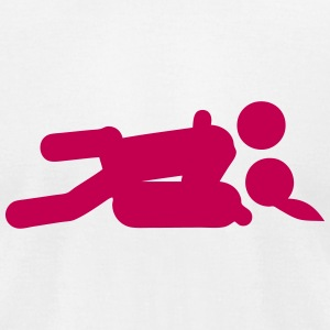 missionary position sex icon 202 T-Shirts - Men's T-Shirt by American Apparel