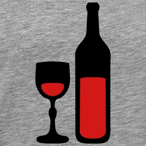 glass wine bottle 202 T-Shirts - Men's Premium T-Shirt