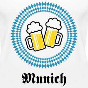 Munich 2 Beer (Bavaria Germany) Tanks - Women's Premium Tank Top