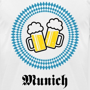 Munich 2 Beer (Bavaria Germany) T-Shirts - Men's T-Shirt by American Apparel