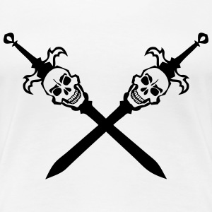 death head sword crosses skull 202 T-Shirts - Women's Premium T-Shirt