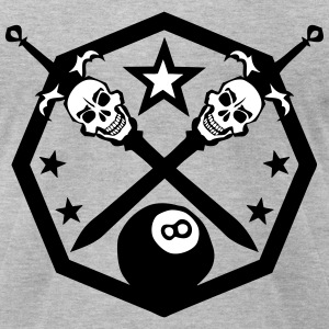 billiard ball logo dead head sword T-Shirts - Men's T-Shirt by American Apparel