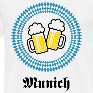 Munich 2 Beer (Bavaria Germany) T-Shirts - Men's Premium T-Shirt