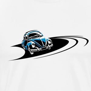 Beetle Car Racing Track T-Shirts - Men's Premium T-Shirt