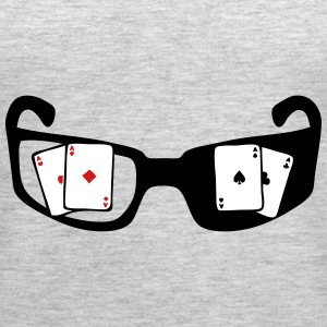 square ace poker glasses Tanks - Women's Premium Tank Top
