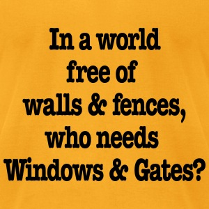 Windows & Gates - Men's T-Shirt by American Apparel