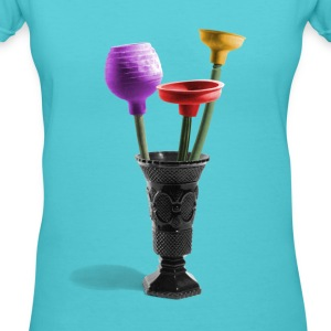 Stinky flowers - Women's V-Neck T-Shirt
