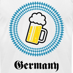 Germany 1 Beer (Munich Bavaria) T-Shirts - Men's T-Shirt by American Apparel