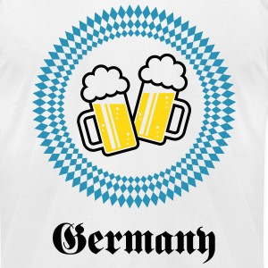 Germany 2 Beer (Munich Bavaria) T-Shirts - Men's T-Shirt by American Apparel