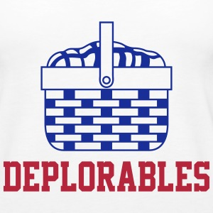 Basket of Deplorable Ladies Tank Top White - Women's Premium Tank Top