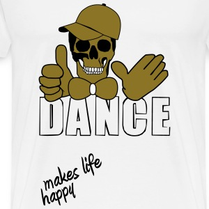 dance makes life happy T-Shirts - Men's Premium T-Shirt