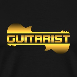 golden guitarist - Men's Premium T-Shirt